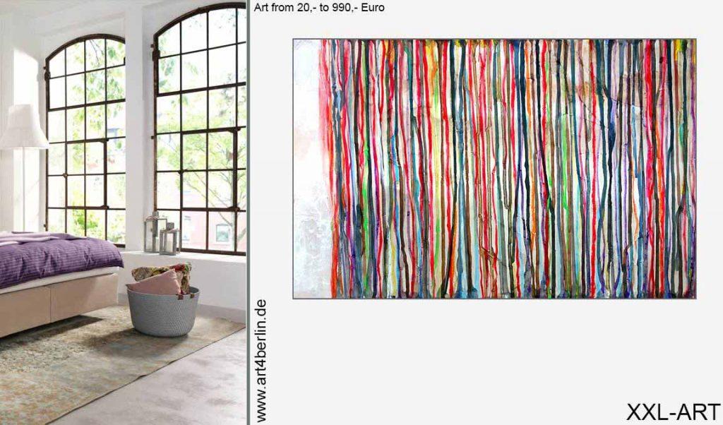 abstrakte grossformatige malerei guenstig 1024x602 - Junge Künstler in Berlin