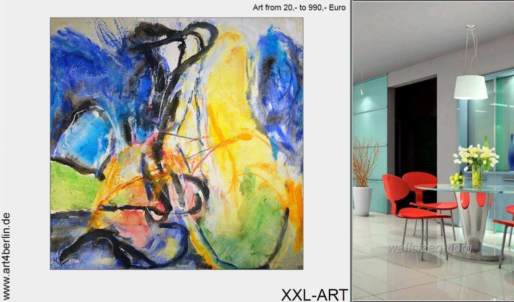 grosse bilder berlin kunst 1024x602 - Große Bilder, handgemalte Berlin Kunst von €20, bis €990,-