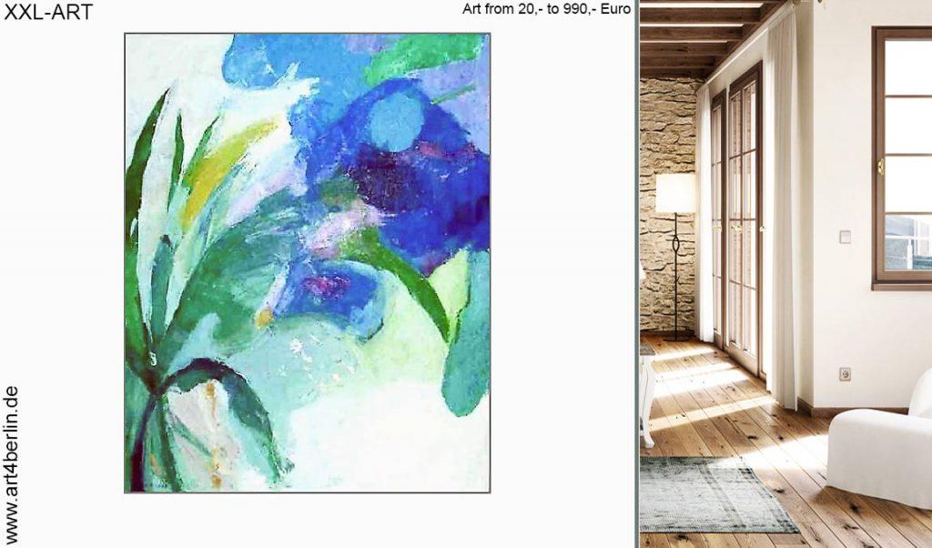 moderne kunst xxl acrylbilder 1024x602 - Junge Berlin Kunst, großformatige Acrylmalerei preisWert kaufen