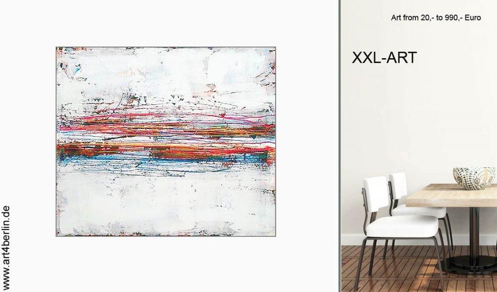 wohnen mit kunst 1024x602 - Junge Berlin Kunst, großformatige Acrylmalerei preisWert kaufen