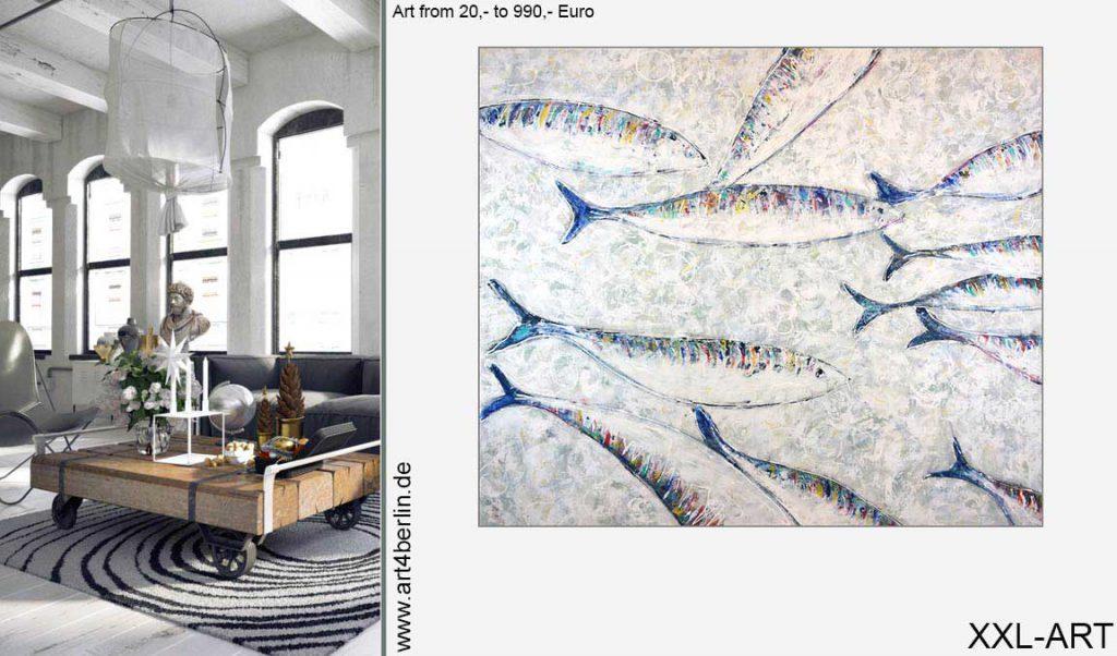echte wohnzimmer kunst malerei 1024x602 - Moderne Kunst fürs Wohnzimmer